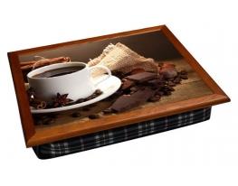 Поднос с подушкой Кофе с шоколадом фото