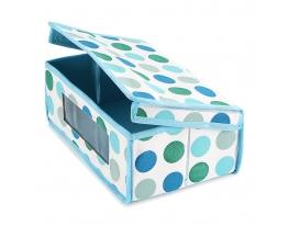Короб для хранения Вещей Голубой Горох фото