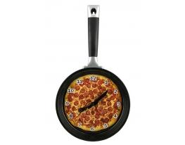 Часы настенные Сковорода пицца фото