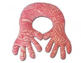 Подушка-подголовник Рука розовая фото