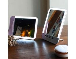 Зеркальце с LED подсветкой с зарядкой от USB фото