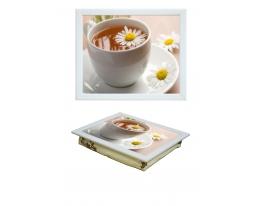 Поднос с подушкой Ромашковый чай фото