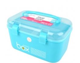 Пластиковый контейнер – органайзер для хранения голубой фото