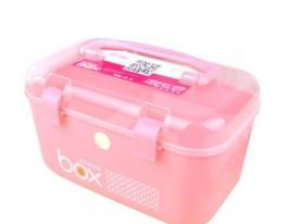 Пластиковый контейнер – органайзер для хранения розовый фото 2
