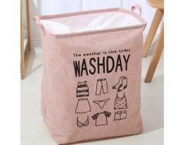 Корзина складная для белья и игрушек Washday Розовая фото