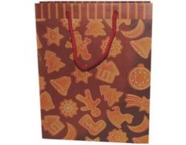 Подарочный пакет 33,5х 25х 9 см Новогодние сладости фото