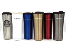 Походная термос чашка Starbucks Metallic 480 мл фото 4