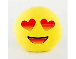 Подушка Смайлик Влюблённый фото 1