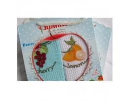 Подарочный набор полотенец Лимон и вишня фото