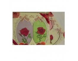 Подарочный набор полотенец для кухни Роза фото
