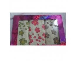 Подарочный набор махровых полотенец для рук Цветы фото
