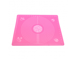 Коврик силикон с разметкой 40х50см Розовый фото