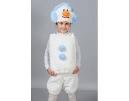 Детский карнавальный костюм Снеговик фото 1
