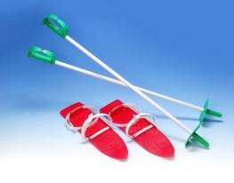 Лыжи с креплением и палками Marmat фото