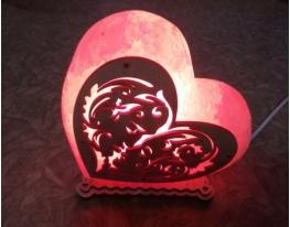 Соляная лампа Сердце поцелуй фото