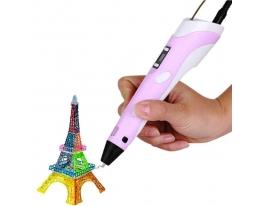 3D ручка c LCD дисплеем 3D Pen-2 Розовая фото