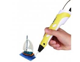 3D ручка c LCD дисплеем 3D Pen-2 Желтая фото