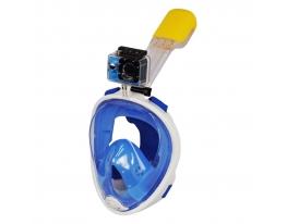 Маска для снорклинга Easybreath голубая фото 3