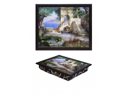 Поднос с подушкой Райский сад фото