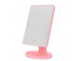 Зеркало для макияжа Magic Makeup с LED подсветкой Розовое фото