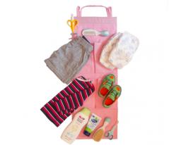 Подвесной органайзер для шкафчика в детский сад Розовый фото