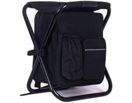 Раскладной стул-рюкзак с термосумкой Чёрный фото