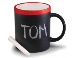 Чашка керамическая матовая с мелком Терра 340 мл фото
