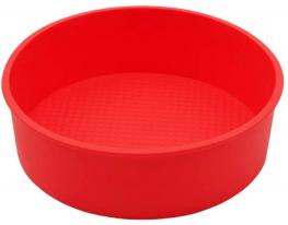 Форма силиконовая Круг диаметр 26 см Красная фото