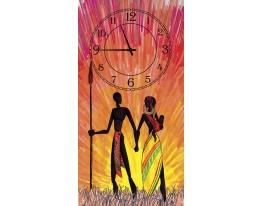 Часы на холсте Закат фото