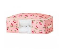 Кофр органайзер для постельного белья, одеял и одежды Розовый фото