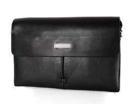 Мужская сумка черная кожзам Men's style фото