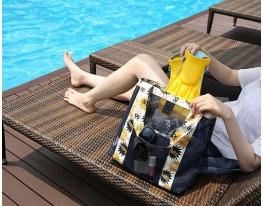 Летняя сумочка для пляжа прорезиненная фото 3, купить, цена