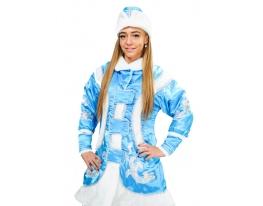 Карнавальный новогодний костюм Снегурочки голубой фото