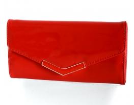 Клатч-кошелек искуственная лаковая кожа Леди фото