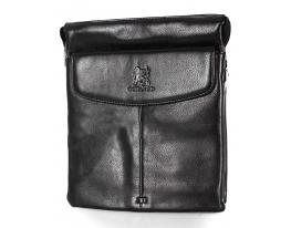 Мужская сумка De Langsa черная фото 1