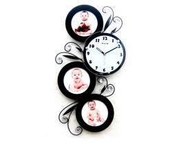 Часы настенные Семейные Ажур Чёрные фото