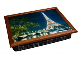 Поднос - столик на подушке Ночной Париж фото