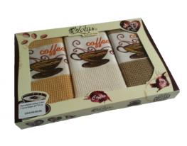 Набор вафельных полотенец Coffee 45х70 - 3 шт Lotus фото
