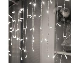 Гирлянда бахрома LED 120 Белая фото