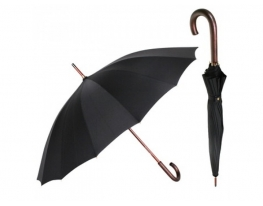 Зонт Антишторм трость Черный фото
