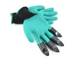 Садовые перчатки с пластиковыми наконечниками без упаковки фото