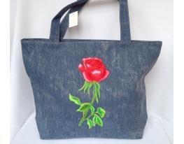 Летняя джинсовая сумка для пляжа и прогулок фото