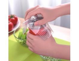 Крышки - пленки силиконовые пищевые многоразовые, 3 шт. фото