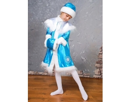 Детский карнавальный костюм Снегурочка Бирюзовый фото