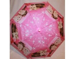 Детский зонтик Котики розовый фото 1