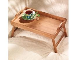 Бамбуковый столик для завтрака фото