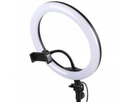 Светодиодная кольцевая лампа с держателем для телефона 26см фото