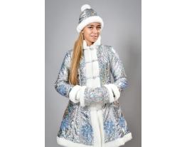 Костюм для взрослых Снегурочка Голубой фото 2