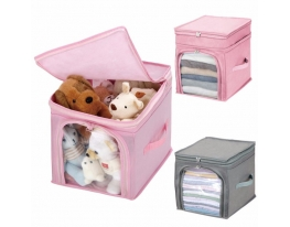 Кофр - органайзер для игрушек и вещей Бамбук розовый фото