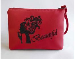 Косметичка с вышивкой Beautiful Красная фото 1